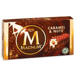 Gelado magnum caramel and nuts