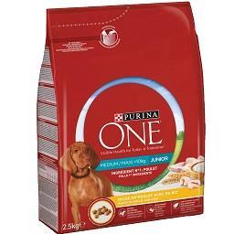 Alimento seco para cão júnior frango e arroz