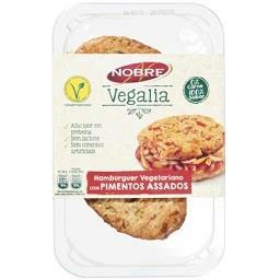 Hamburguers vegetarianos com pimentos assados sem la...