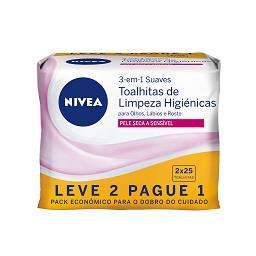 Toalhitas Limpeza de Rosto Peles Sensiveis