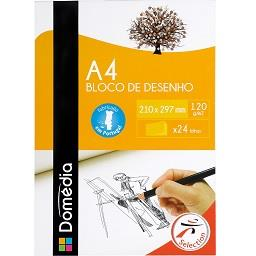 Bloco de desenho A4, 24 folhas