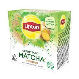Chá verde matcha e ginger