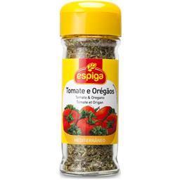Frasco de tomate e oregãos