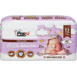 Fraldas bebés recém-nascidos T2 - 3 a 6 kg