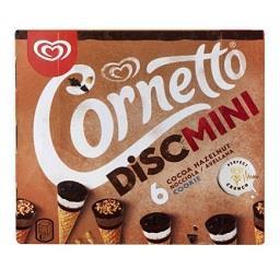 Gelado cornetto mni avelã/cookie