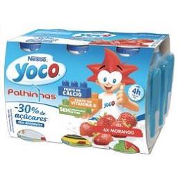 Iogurte líquido yoco de morango