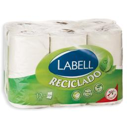 Papel higiénico, folha dupla, reciclado