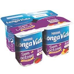 Iogurte Aroma Morango e Tutti-Frutti s/ Lactose