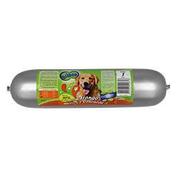 Salsicha frango/arroz/cenoura