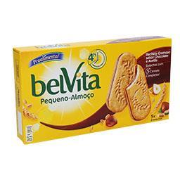 Bolachas belvita c/ recheio chocolate e avelãs
