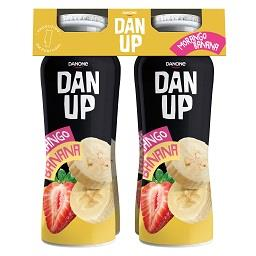 Iogurte líquido dan'up morango e banana
