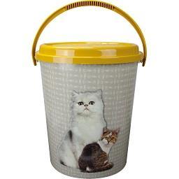 Balde com tampa 11 litros para gato