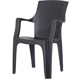 Cadeira Rattan Queen Antracite