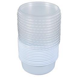Taças multiusos com tampas transparentes