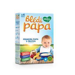 Farinha láctea 1ª papa 4 meses 3 frutos