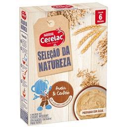 Farinha láctea seleção da natureza aveia e centeio +...