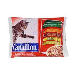 Alimento húmido para gato, saqueta de molho