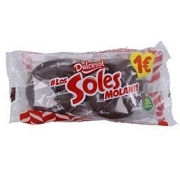 Soles chocolate 4 unidades