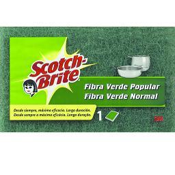 Esfregão esponja fibra verde