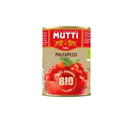 Mutti polpa tomate pedacos biologico lata 400g