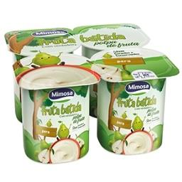 Iogurte fruta batida pera