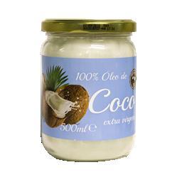 100% óleo de coco extra virgem biológico