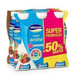 Iogurte liquido magro aroma de frutos silvestres